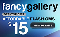 fancy flash cms
