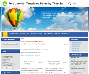 the fresh air joomla 1 the air balloons joomla 1 5 template by themza featuring