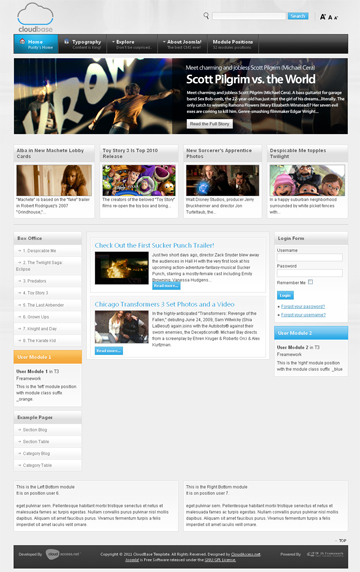 Joomla 1. 5 template: redberry.